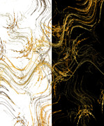 Home Design Abstract Collection - Precious Metal 3 Black And White Decorator Collection 1 by Andee Photography