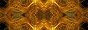 Precious Metal 3 Ocean Waves Dark Gold Print by Andee Photography