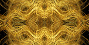 Precious Metals Posters - Precious Metal 3 Ocean Waves Panorama Poster by Andee Photography