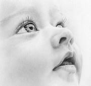 Graphite Portrait Drawings - Precious by Natasha Denger