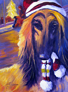 Afghan Hound Paintings - Precious Ruby by Terry  Chacon