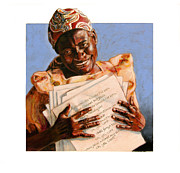 African-american Painting Originals - Precious Songs by John Lautermilch