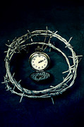 Barbed Wire Framed Prints - Precious Time Framed Print by Joana Kruse