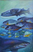 Fish Underwater Paintings - Predators by John Allinson