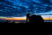 West Quoddy Head Lighthouse Framed Prints - Predawn Light at West Quoddy Head Lighthouse Framed Print by Marty Saccone