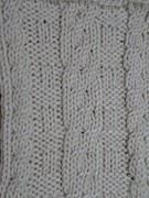 Baby Tapestries - Textiles - Preemie Aran Cardigan 1 back by Megan Brandl