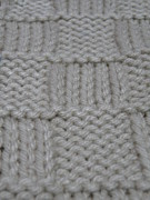 Baby Tapestries - Textiles - Preemie Aran Cardigan 1 front right by Megan Brandl