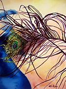 Close Up Painting Metal Prints - Preening for Attention SOLD Metal Print by Lil Taylor