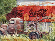 Coca Cola Painting Framed Prints - Prefect Harmony Framed Print by Daydre Hamilton