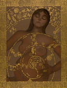 Universal Mother Art - Pregnant Mother Goddess by Diana Perfect