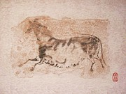 Native Drawings Prints - Prehistoric Horse Print by Pg Reproductions