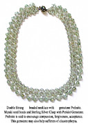 Sterling Silver Art - Prehnite-Peridot Gemstone Necklace by Jennie Breeze
