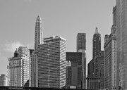 Chicago Skyline Bw Metal Prints - Premier Destination Chicago Metal Print by Christine Till