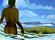 Aotearoa Paintings - Premonition - Bream Bay Goddess by Patricia Howitt