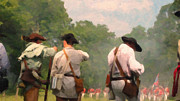 Colonial America Paintings - Preparing for Battle by Colonial America