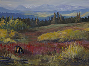 Park Scene Paintings - Preparing For Winter by Bev Finger