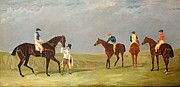 Race Metal Prints - Preparing to Start for the Doncaster Gold Cup 1825 Metal Print by John Frederick Herring Senior