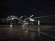 Lancaster Bomber Prints - Preperation Print by Jason Green