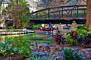 Riverwalk Originals - Presa Street Bridge over Riverwalk by Ricardo Ruiz de Porras