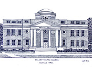 Historic Buildings Drawings Mixed Media - Presbyterian College by Frederic Kohli