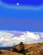 Prescott Prints - Prescott Moon Print by Larry Oskin