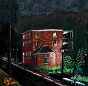 Prescott Prints - Prescott Park at Night Print by Francois Lamothe