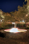 Prescott Photo Prints - Prescott Park Fountain Print by Joann Vitali