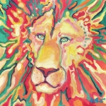 Lion Of Judah Paintings - Presence by Kati Biggs