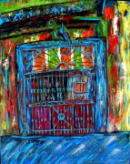 Mixed Media Abstract Posters - Preservation Hall Poster by JoAnn Wheeler