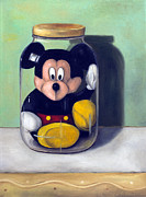 Toy Painting Prints - Preserving Childhood 4 Print by Leah Saulnier The Painting Maniac