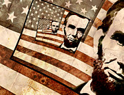 Abe Lincoln Digital Art Posters - President Abraham Lincoln Poster by Phil Perkins
