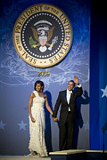 Inauguration Digital Art - President and Michelle Obama by had J McNeeley