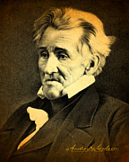 President Andrew Jackson Portrait And Signature Print by Design Turnpike