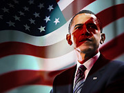President Barack Obama Print by Marvin Blaine