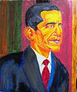 Barack Obama Painting Prints - President Barack Obama POTUS Print by Donald William