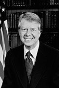 Dnc Framed Prints - President Jimmy Carter  Framed Print by War Is Hell Store