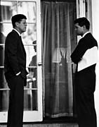 Us Presidents Framed Prints - President John Kennedy And Robert Kennedy Framed Print by War Is Hell Store