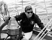 Portraits Photo Posters - President John Kennedy Sailing Poster by War Is Hell Store