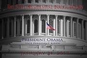 Barack Obama Framed Prints - President Obama Inauguration Framed Print by Jost Houk