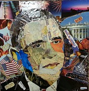 First Black President Paintings - President Obama by James Haddock
