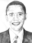 President Obama Paintings - President Obama by Roberto Cortes