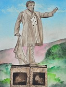 Historic Statue Painting Framed Prints - President William McKinley Statue Framed Print by Sally Rice
