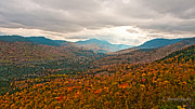Munroe Photo Metal Prints - Presidential Range in Autumn Watercolor Metal Print by Brenda Jacobs