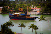 Collins Avenue Prints - Presidential Yacht Replica Print by Rene Triay Photography