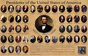 Chart Digital Art - Presidents of the United States of America by Nomad Art And  Design