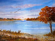 Pathway Paintings - Prespa lake by Constantinos Charalampopoulos