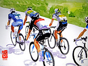 Le Tour De France Posters - Pressures Off Poster by Shirley  Peters