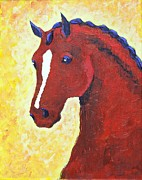 Light Horse Art Painting Originals - Prestige by Amanda Pierce