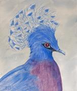 Crown Victoria Paintings - Preston Pigeon by Rich Stedman