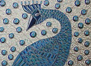 Cynthia Snyder Art - Pretty as a Peacock 1 by Cynthia Snyder
